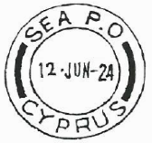 sea post office cyprus double circle date stamp