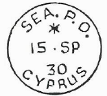 sea post office cyprus date stamp