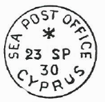 sea post office cyprus fourth date stamp