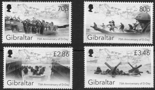 gibraltar dday stamps